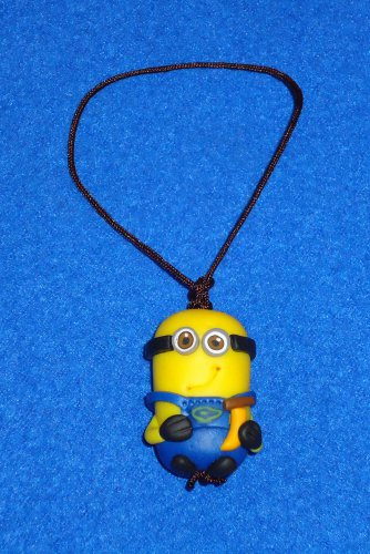 """**BRAND NEW** """"DESPICABLE ME"""" MOVIES CHARACTER MINION PLASTIC FIGURE WITH STRAP"""