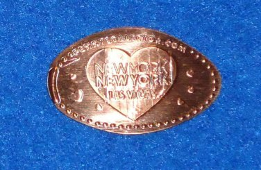 *BRAND NEW* LAS VEGAS NEVADA NEW YORK NEW YORK HOTEL CASINO SOUVENIR PENNY HEART