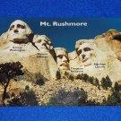 BEAUTIFUL MT RUSHMORE POSTCARD WASHINGTON LINCOLN JEFFERSON ROOSEVELT PRESIDENTS