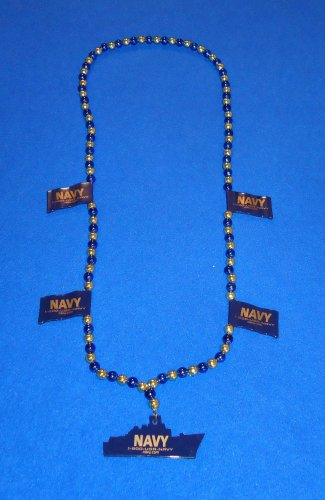 SPECTACULAR STUNNING NAVY AUTHENTIC NEW ORLEANS MARDI GRAS BEAD FLAGS AND SHIP