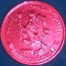 GRYPHON AUTHENTIC NEW ORLEANS RED MARDI GRAS DOUBLOON TOKEN NOLA COIN ALLA
