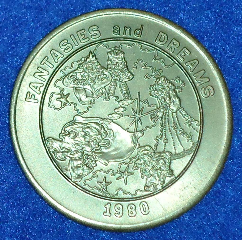 FANTASIES & DREAMS AUTHENTIC NEW ORLEANS MARDI GRAS DOUBLOON KING QUEEN FAIRY