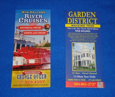 RIVER CRUISES SOUVENIR BROCHURE + ***BONUS*** NOLA GARDEN DISTRICT TOUR BROCHURE