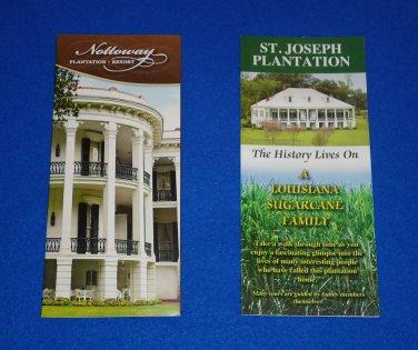 NOTTOWAY PLANTATION SOUVENIR BROCHURE + **BONUS** ST. JOSEPH PLANTATION BROCHURE