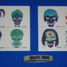 AWESOME SET OF EIGHT SUICIDE SQUAD TATTOOS HARLEY QUINN JOKER + BONUS WRISTBAND