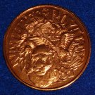 LION KING OF THE BEASTS EAGLE NATURE'S ROYALTY NEW ORLEANS MARDI GRAS DOUBLOON