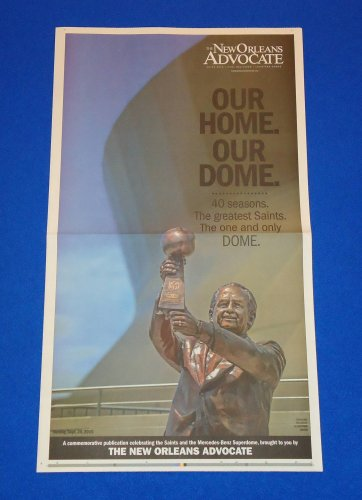 *BRAND NEW* SPECIAL NEW ORLEANS SAINTS COMMEMORATIVE NEWSPAPER PAGE DREW BREES