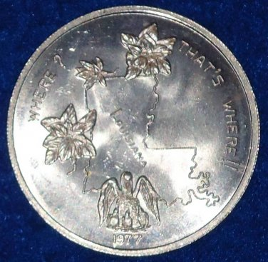 WHERE? LOUISIANA, THAT'S WHERE! NEW ORLEANS MARDI GRAS DOUBLOON PELICAN MAGNOLIA
