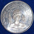 QUEEN ELIZABETH II OF ENGLAND MARDI GRAS DOUBLOON SOVEREIGN QUEEN COMMONWEALTH