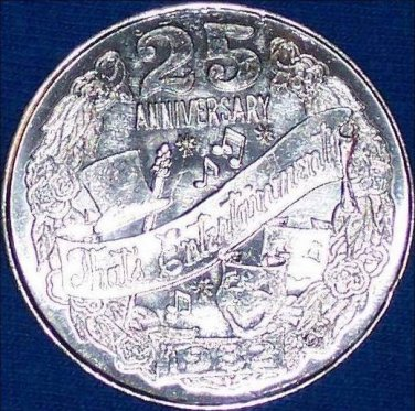 MGM THAT'S ENTERTAINMENT NEW ORLEANS MARDI GRAS DOUBLOON COIN 25TH ANNIVERSARY