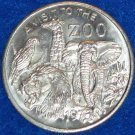 A VISIT TO THE ZOO NEW ORLEANS MARDI GRAS DOUBLOON ELEPHANT PARROT GIRAFFE LION