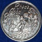 """GOOD SPORTS"" NEW ORLEANS MARDI GRAS DOUBLOON TENNIS SKIING DIVING CHEERLEADING"