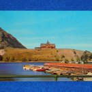 COOL VINTAGE WATERTON LAKES NATIONAL PARK POSTCARD CANADA PRINCE OF WALES HOTEL