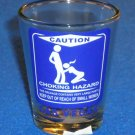 BRAND NEW LAS VEGAS SOUVENIR SHOT GLASS FUNNY CRUDE HUMOR CAUTION CHOKING HAZARD
