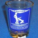 BRAND NEW LAS VEGAS SOUVENIR SHOT GLASS FUNNY CRUDE HUMOR CAUTION CHOKING HAZARD