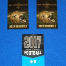 **TWO** 2017 NEW ORLEANS SAINTS SCHEDULE POCKET CARDS + **BONUS 2017 SCHEDULE**