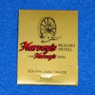 RARE VINTAGE HARVEY'S RESORT HOTEL CASINO INN MATCHBOOK SOUTH LAKE TAHOE