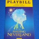 FINDING NEVERLAND THE MUSICAL PLAYBILL PETER PAN 2004 ADAPTATION FILM ALLAN KNEE