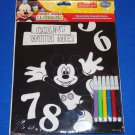 **BRAND NEW** WALT DISNEY MICKEY MOUSE VELVET COLORING SHEET **FACTORY SEALED**