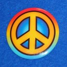 60S & 70S PEACE SIGN SYMBOL PIN BRITISH CAMPAIGN LOGO FOR NUCLEAR DISARMAMENT