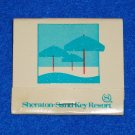 VINTAGE UNUSED SHERATON-SAND KEY RESORT MATCHBOOK CLEARWATER BEACH FLORIDA
