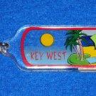 *BRAND NEW* RADIANT KEY WEST FLORIDA BEACH UMBRELLA PALM TREES KEYCHAIN WITH TAG