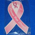 *BRAND NEW* BREAST CANCER PIN THINK PINK COURAGE HOPE STRENGTH *FACTORY SEALED*