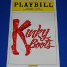 KINKY BOOTS MUSICAL PLAYBILL CYNDI LAUPER TONY AWARD WINNING FIERSTEIN BROADWAY