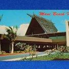 VINTAGE BEAUTIFUL MAUI BEACH HOTEL POSTCARD SOUVENIR TRADITIONAL HAWAIIAN HOTEL