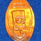 BRAND NEW STUPENDOUS BART SIMPSON PENNY UNIVERSAL STUDIOS HOLLYWOOD SIMPSONS TV