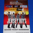 2012-2013 BROADWAY SEASON TICKET HANDBOOK FOLDER JERSEY BOYS LES MIS SOUVENIR