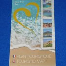 BRAND NEW HEART OF THE FRENCH RIVIERA TOURIST MAP BROCHURE VILLEFRANCHE SUR MER