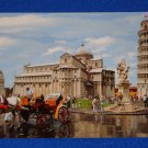 BRAND NEW COOL LEANING TOWER OF PISA POSTCARD PIAZZA DEI MIRACOLI HORSE CARRIDGE
