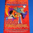 BRAND NEW AWESOME 2017 TEXAS PINBALL FESTIVAL PROGRAM DALLAS ELVIRA FLASH GORDON