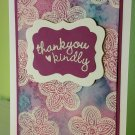 Thank You Purple Watercolored Embossed Card