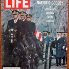 Life Magazine February 10, 1967 : Cover - Gus Grissom's caisson at Arlington.