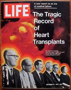 Life Magazine September 17, 1971 : Cover - Six recipients of heart transplants