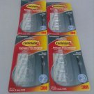 Command Round Cord Clips, Clear, 4-Clip, 4 - Pack