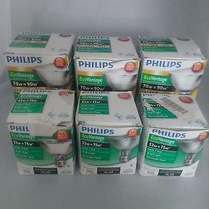 Philips EcoVantage Light bulbs. Mixed Lot 6 Bulbs.