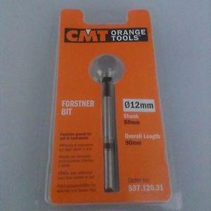 CMT 537.120.31 Forstner Bit, 12mm (15/32-Inch) Diameter, 8mm Shank