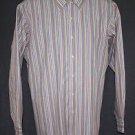 New BCBG Men's Striped Dress Shirt L Large Neck 16.5 Sleeve 34/35