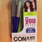 NEW CONAIR CS69RR MINI YOU STYLE CURL OF STRAIGHTEN 2-IN-1 STYLER