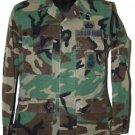 US AIR FORCE WOODLAND CAMO BLOUSE SHIRT WITH PATCHES