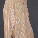 Chaps Orange/Blue Striped Casual Dress Shirt XL Extra Large