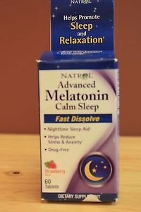 NEW NATROL MELATONIN 6 MG STRAWBERRY FLAVOR 60 FAST DISSOLVE TABLET EXP 11/2017