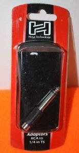 NEW HOSA TECHNOLOGY ADAPTOR RCA TO 1/4in TS BLACK