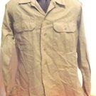 VINTAGE WWII US ARMY MENS KHAKI UNIFORM SHIRT WITH RARE PATCHES