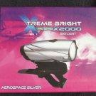 NEW XTREME BRIGHT PRO SERIES X2000 BIKE LIGHT AEROSPACE SILVER