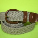 "NEW Men's GNW Woven Elastic Stretch Belt Khaki / Tan / Brown Small S 30""-32"" $20"