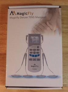 NEW MAGICFLY TENS UNIT MUSCLE STIMULATOR ELECTRONIC MASSAGE THERAPY